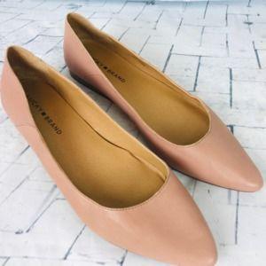 Lucky Brand Bylando Leather Bijou Flat ~ 10M NWOB